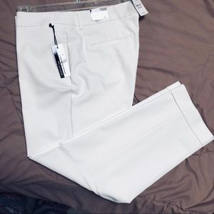 EXPRESS White, Editor, Ankle Pants, Size 12